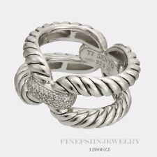 Authentic Sterling Silver Ti Sento Milano Ring Size 7.5 Euro 56 12060ZI/56