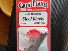 GREAT PLANES 4-40 THREADED STEEL CLEVIS 2PCS GPMQ3794