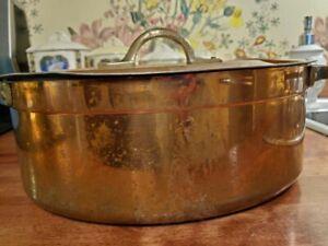Copper pot lid Cocotte France French Metaux Ouvres Vesoul art et cuisine pan