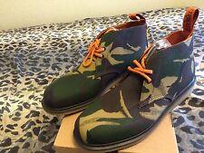 New Men's Dr. Martens Nixon Camo Millerain Canvas Wedge Boots Sz 13 DEADSTOCK
