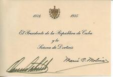 1974-PRESIDENT OF CUBA- Osvaldo DORTICOS Torrado - President of CUBA-AUTOGRAPH