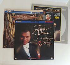 LOT 3 Classical Music LASERDISCS BEETHOVEN # 9, 5, 6, Violin Concerto in D, etc.