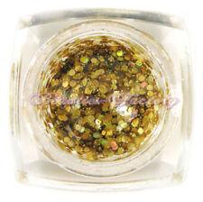 Decorazioni glitter acrilici per unghie oro