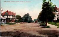 Stockton CA North El Dorado Street Postcard unused 1900s/10s