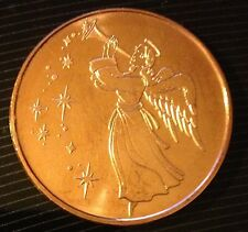 1 OZ .999 FINE COPPER CHRISTMAS ROUND - ANGEL w/MERRY CHRISTMAS TREE REVERSE
