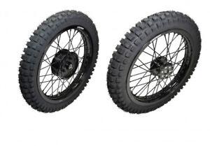 SET Komplettrad SB Radnabe MX / Enduro schwarz Alu Edelstahl 1,85x16Zoll Mitas E