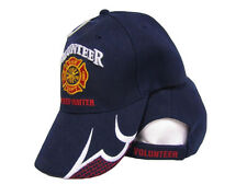 Dark Navy Blue Volunteer Firefighter Fire Fighter Baseball Cap Hat