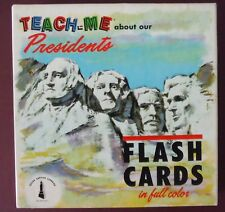 Teach Me About Our Presidents Flash Cards 1964 Exc Cond
