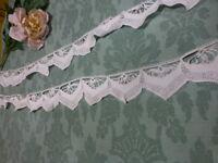 2m,07 crochet fait main ,fil de lin  ,jupons, literie etc...superbe dentelle anc