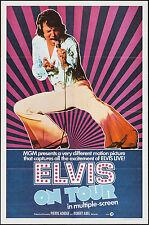 ELVIS ON TOUR original 1972 one sheet movie poster ELVIS PRESLEY excellent shape