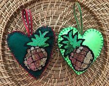 Felt Heart ornaments Easter Baby Shower Christmas decoration ornament pineapple