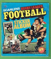 #T49.  SET 1983 SCANLENS RUGBY LEAGUE STICKERS & ALBUM