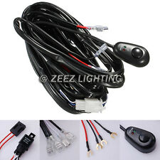 Fog Light Relay Harness Wiring Kit Switch HID LED Work Lamp Spot Driving Bar C00