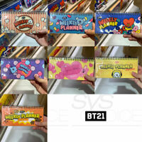 BTS BT21 Official Authentic Goods Weekly Planner Snack Ver 215x102mm 60P