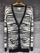 Staring at Stars Urban Outfitters XS Black & Creamy White Striped Cardigan Long