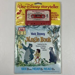 Vtg 70's Walt Disney Storyteller The Jungle Book Read Along Book & Tape NOS