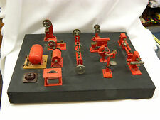 Vtg Langes Legetoj Toy Steam Engine Battery Power Tools Salesman Sample Display