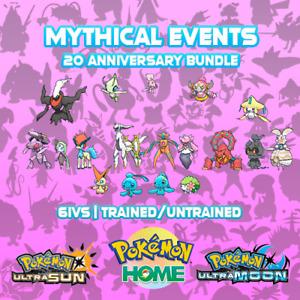 Mythical Pokemon Events Bundle - Zeraora - Pokemon - USUM - HOME - ORAS - XY