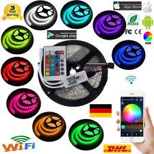 Wasserdicht 5M 5050 RGB 300 LED Stripe Leiste Streifen Licht WiFi Alexa APP 12V