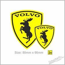 2x VOLVO Wappen Elch -Ferrarie Sticker Aufkleber Elk Moose  S/V90 V60 XC60/70/90