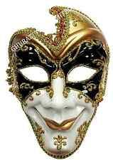 Evil Full Face bufón jotel Masquerade Máscara Halloween Elaborado Vestido Accesorio M432