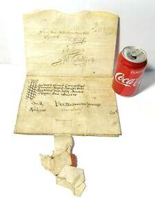 1684 Charles II Vellum Document Edward Freeman + Thomas Eston Large Wax Seal