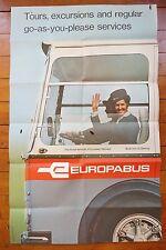 1969 Europabus Original European Railways Railway Travel Poster
