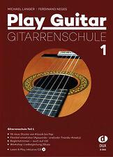 Gitarre Noten Schule : PLAY GUITAR 1 Gitarrenschule mit CD Anfänger LANGER