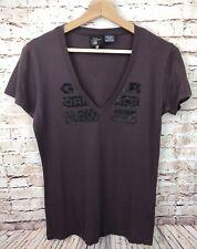 GSTAR G-STAR RAW Men Short Sleeves V-neck T-Shirt Top Size L Large 100% Cotton