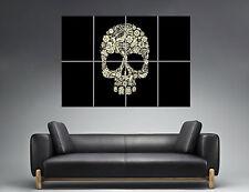 Flower Skull Tumblr Tete de mort Wall Art Poster Grand format A0 Large Print