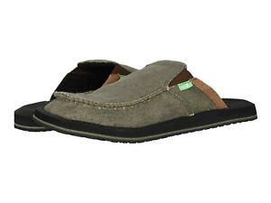Men's Shoes Sanuk YOU GOT MY BACK III Easy Slip On Slides 1108390 ARMY