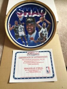 """Shaquille O'Neal NBA 1992/93 Rookie of the Year 8 1/2"""" Collectors Edition Plate"""