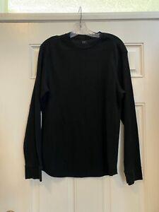 Gap Waffle Knit Black Long Sleeve Underlayer shirt M
