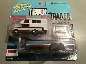 FREE SHIP JOHNNY LIGHTNING TRUCK/TRAILER  2 CAR SET RED 1993 FORD F-150 CAMPER