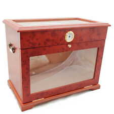 400 Ct Cigar Humidor Display Case Cabinet End Table