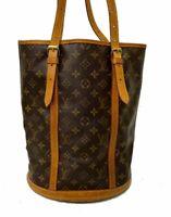 LOUIS VUITTON Monogram Bucket GM Shoulder Bag M42236 LV E-1130 Sticky, JUNK