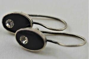 Russische Ohrringe Silber 925 mit Stein