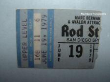 ROD STEWART Concert Ticket Stub 1979 SAN DIEGO SPORTS ARENA Very Rare FACES