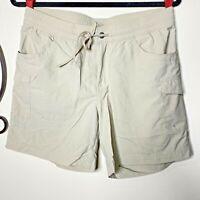 Columbia Womens Medium Beige Shorts Elastic Waist Outdoor Quick Dry