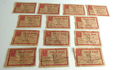 Lot of 13-1907 POLAR BEAR TOBACCO Tickets From Old General Store, Shows Package