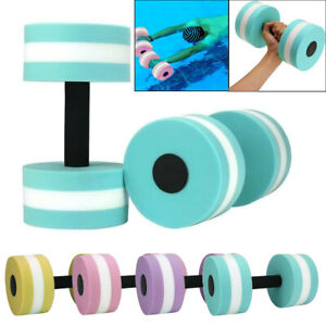1 Pair Aqua Fitness Barbells Foam Dumbbells Hand Bars Pool Resistance Exercise