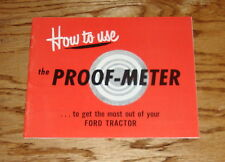 1948 1949 1950 1951 1952 Ford Tractor Proof Meter Owners Operators Manual Guide