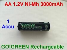 Piles AA 3000mAh Rechargeable Mignon LR6 1.2V Ni-Mh  TRES PUISSANT - DE FRANCE