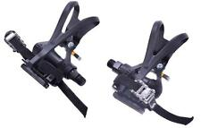 """PAIR BIKE VP PEDALS WITH TOE CLIP & STRAPS 9/16"""" LIGHT WEIGHT BLACK LOW PRICE"""