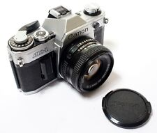 Canon AE1 35mm Film SLR Camera + Canon FD F1.8/50mm Lens - Superb!