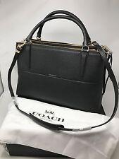 New 100% Auth COACH 28160 borough bag in pebbled leather handbag Black w/receipt