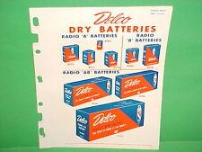 1948 DELCO GM DRY BATTERY PARTS CATALOG PORTABLE FARM RADIO FLASHLIGHT LANTERN