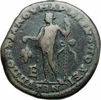 MACRINUS & DIADUMENIAN Genuine Ancient MARCIANOPOLIS Roman Coin DIONYSUS i79014