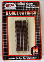 "Atlas N Code 55 Track 3"" Straight, Item #2004 (6 pcs.). New"