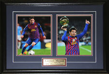 Lionel Messi Barcelona FC Spanish League Soccer Football 2 Photo Collector Frame